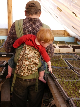 Waylon and Papa in the Seed House