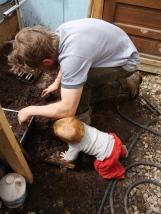 Waylon learns about soil blocks